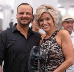 Karen Walker with her award.